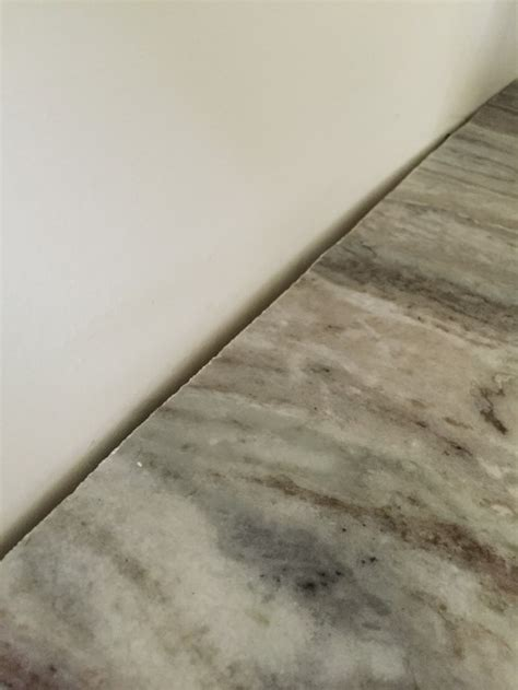 gap between cabinet and wall how to correct a gap between granite and wall