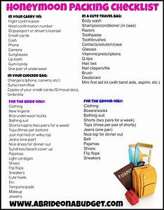 honeymoon packing checklist with a free printable a With honeymoon checklist for the bride