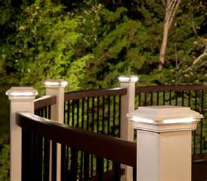 deck lighting led step stair lights post lights trex