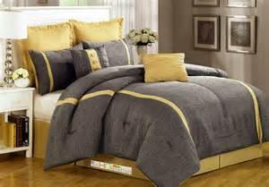 8 pc animal skin texture striped jacquard comforter set gray silver yellow queen ebay