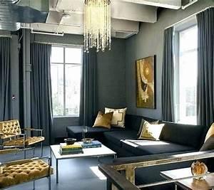 Schwarz Gold Wohnzimmer Innenarchitektur Gold