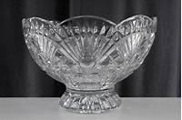 godinger shannon crystal MODERN Shannon Godinger Crystal Glass Footed Fruit Bowl ...