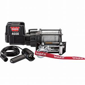 Warn 12 Volt Dc Powered Electric Utility Winch  U2014 4 000