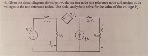 Solved Given The Circuit Diagram Shown Below Choose One