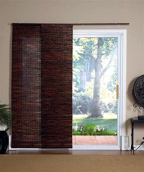 curtains for sliding glass doors bamboo curtains for