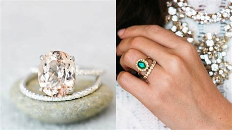 non traditional engagement rings luxedestinationweddings com