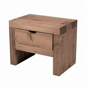 Chevet Bois Massif : table de chevet en bois massif cir toute preuve ~ Teatrodelosmanantiales.com Idées de Décoration