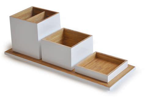 set de bureau design accessoires bureau design bois