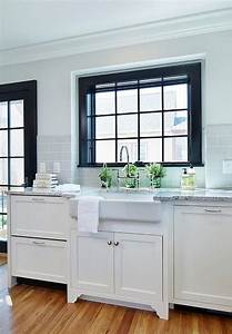 25 best ideas about black trim interior on pinterest With best brand of paint for kitchen cabinets with dark metal wall art