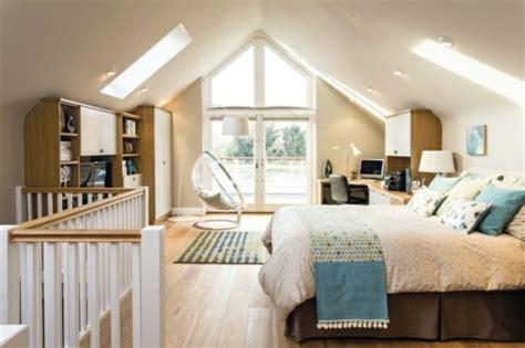 dachgeschoss modern gestalten junge dachgeschoss schlafzimmer einrichten