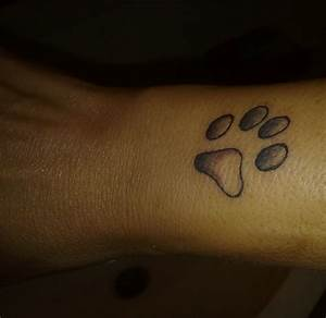 Pin Zampa Questo Tatuaggio Rappresenta L Impronta Di Un Cane I On Tattoo TattoosKid