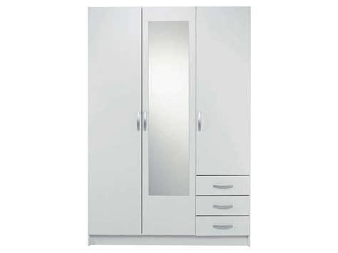 armoire 3 portes 3 tiroirs spot coloris blanc vente de
