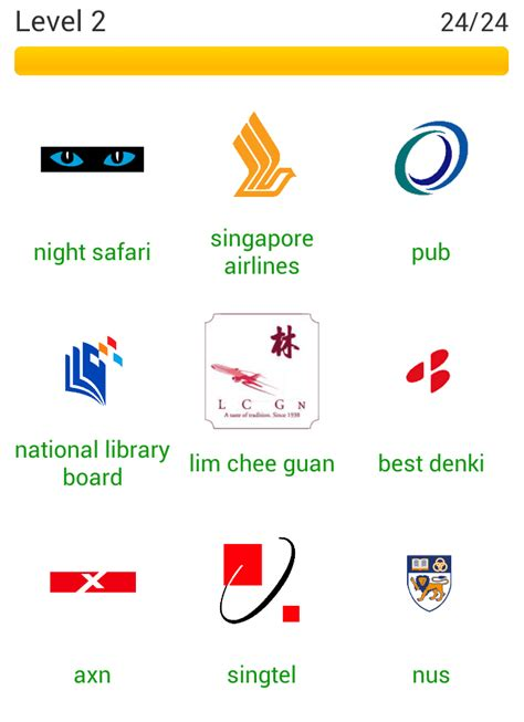 Answers App by App Answers Logo Quiz Sg Answers Level 2