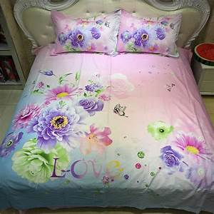 Bright, Color, Flower, And, Butterfly, Rose, Daisy, Bedding, Set