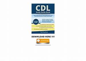 Best Pdf  Cdl Study Guide Book  Test Preparation