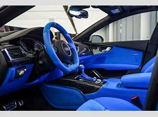 Voodoo Blue Audi RS7 Has an Interior That Belongs in a