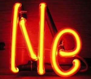 Neon Gas Element