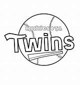 Twins Minnesota Coloring Printable Schedule Zany Again Bar Looking Case Don sketch template