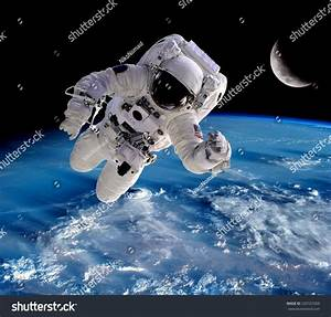 Astronaut Spaceman Outer Space People Planet Stock Photo ...