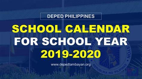 deped philippines school calendar school year deped