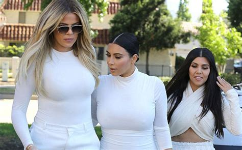 Kardashian sisters step out in all white - Lifestyle News