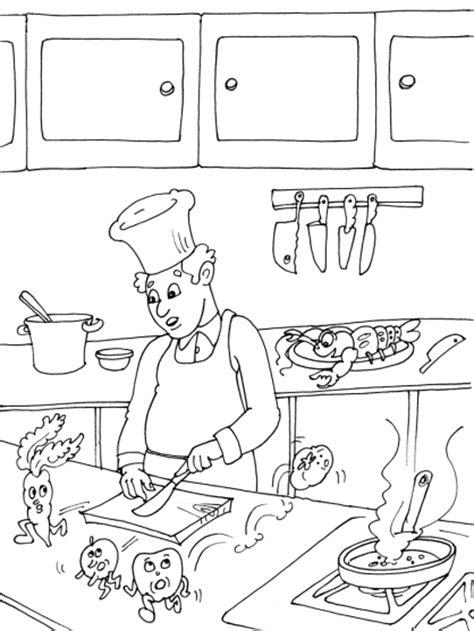coloriage de cuisine coloriage cuisine les beaux dessins de autres à imprimer
