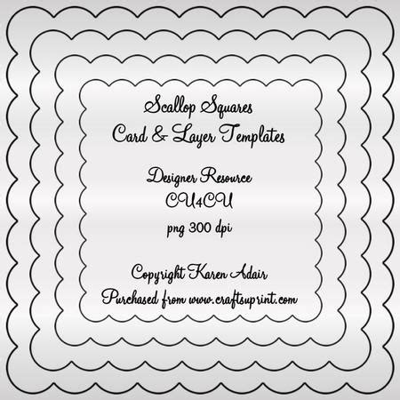 scallop squares card frontlayers png templates