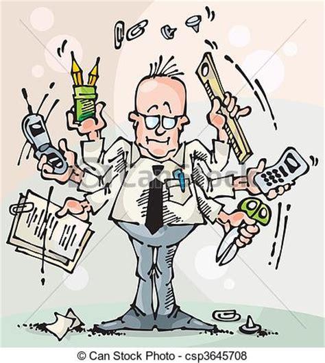 icones du bureau illustration de dealer broker manager homme affaires et