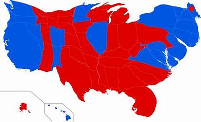 Election Presidential States United Cartogram Map State