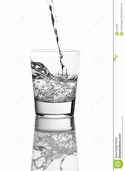 Pouring Liquid Clear Water Glass Beverage Dreamstime