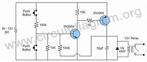 push button on off swtich using transistors circuit diagram With push on off relay