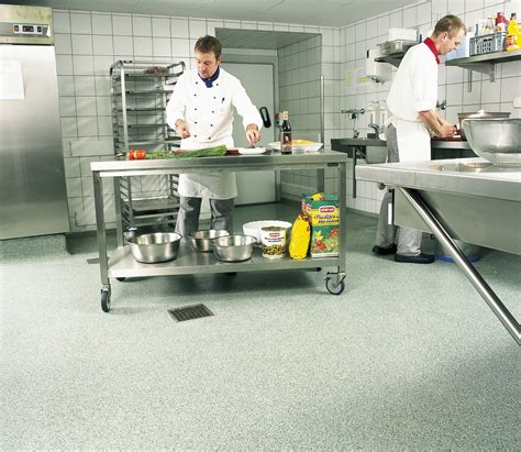commercial cuisine types of kitchen flooring for commercial installation