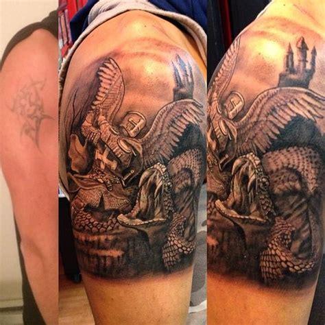The Best Detailed Tattoo Of Good Vs Evil  Sleeve Tattoos