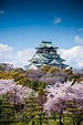Osaka Castle, Chūō-ku, Osaka, Japan, Soleil Levant 75 in ...