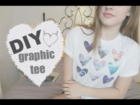 DIY GRAPHIC TEE Tumblr Heart Shirt Kassidy Marina