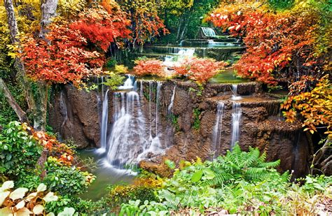 waterfall autumn  ultra hd wallpaper  wallpapernet