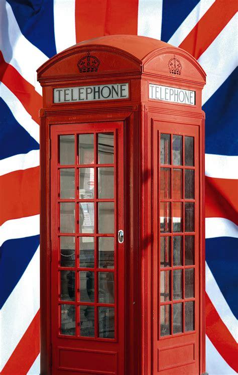 chambre londres ado poster union cabine téléphonique et drapeau de l