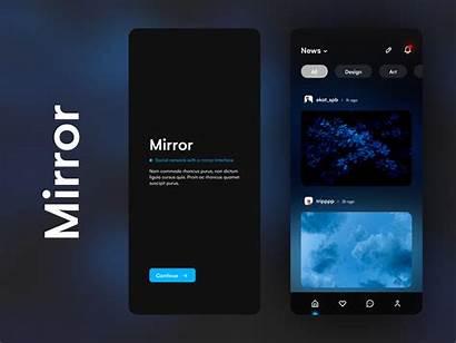 Ui Ux App Mobile Mirror Dribbble Minimalism