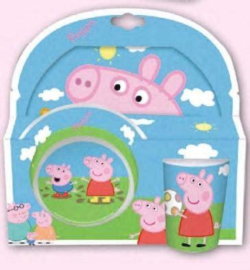 peppa pig piatti e bicchieri peppa pig set 2 piatti 1 bicchiere in plastica