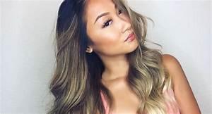 Balayage Cheveux Bouclés : balayage cheveux brun blond ~ Dallasstarsshop.com Idées de Décoration
