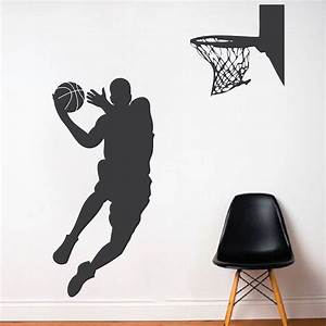 Basketball player wall decal trendy wall designs for Basketball wall decals