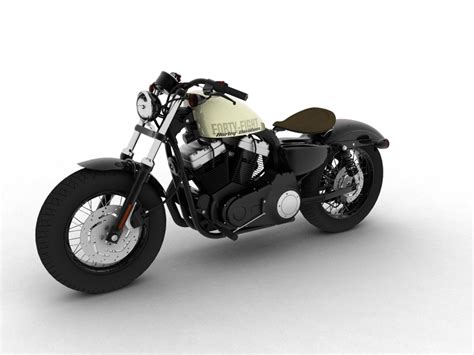Harley Davidson Sportster Models by Harley Davidson Xl1200 Sportster Forty Eight 2014 3d Model