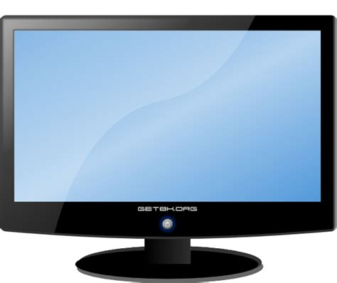tv and computer lcd widescreen hdtv monitor clip art at clker com vector