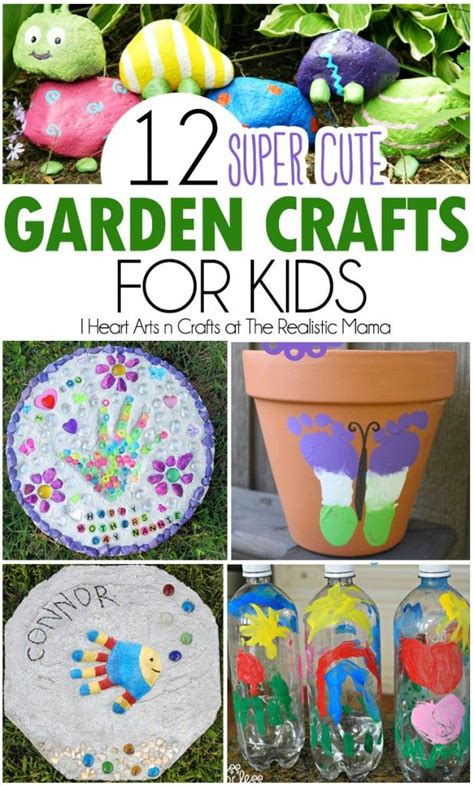 12 super cute garden crafts for kids gardens summer and