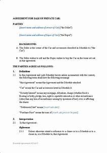 private car sale agreement template kidscareerinfo With private car sale agreement template