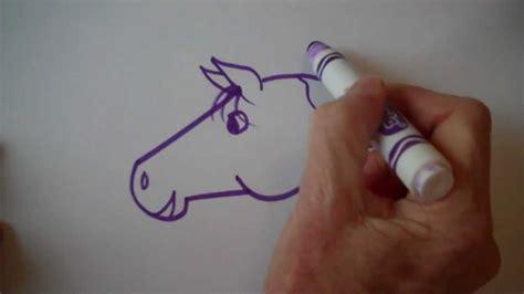 draw  easy cartoon horse youtube