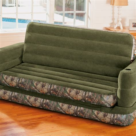 queen size pull out sofa bed intex inflatable realtree camo print queen size pull out