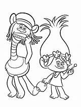 Coloring Disney Pages Trolls sketch template