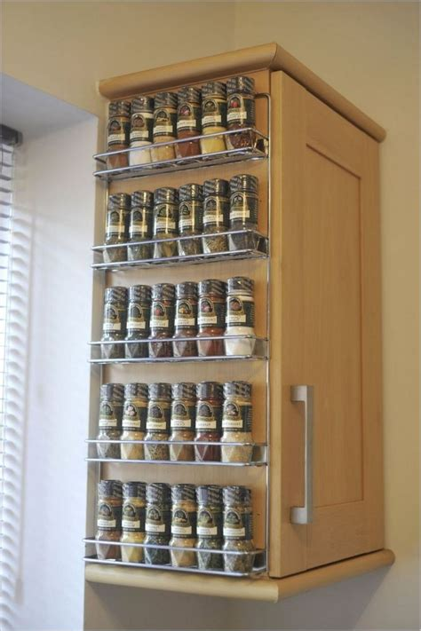 kitchen wall organizers wall spice rack ideas home interior design styles 3457