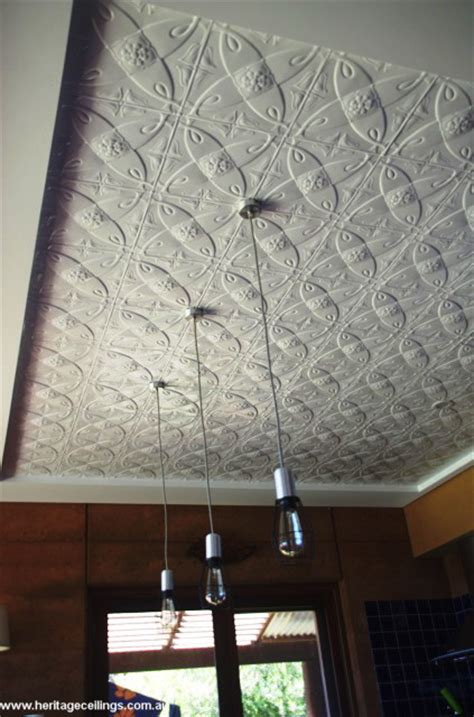 pressed metal panels recessed  ceiling